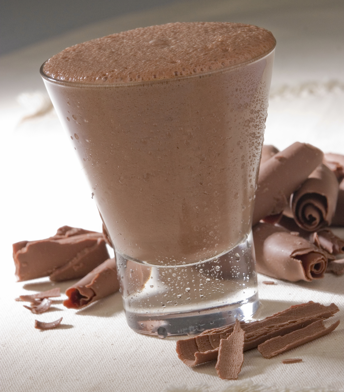 Batido espumoso de chocolate