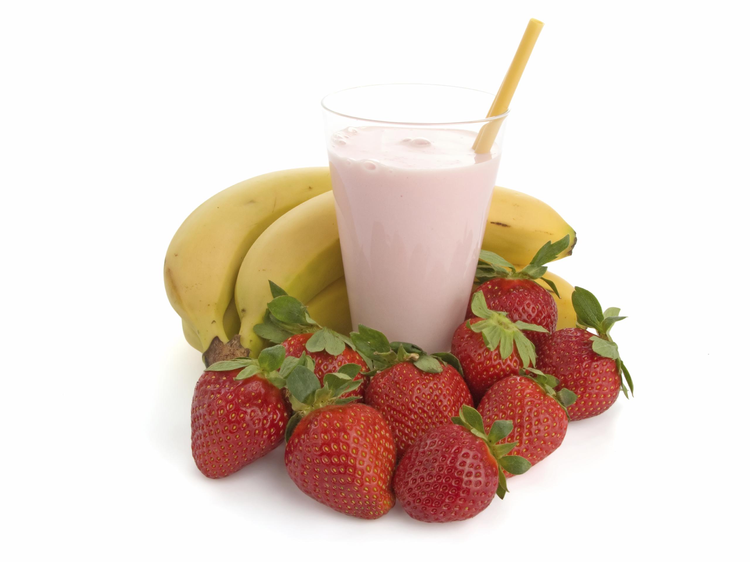 Batido de fresas y plátano