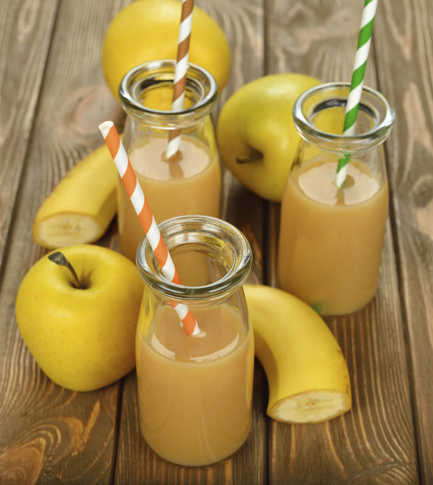 Batido de manzana platano y limonada