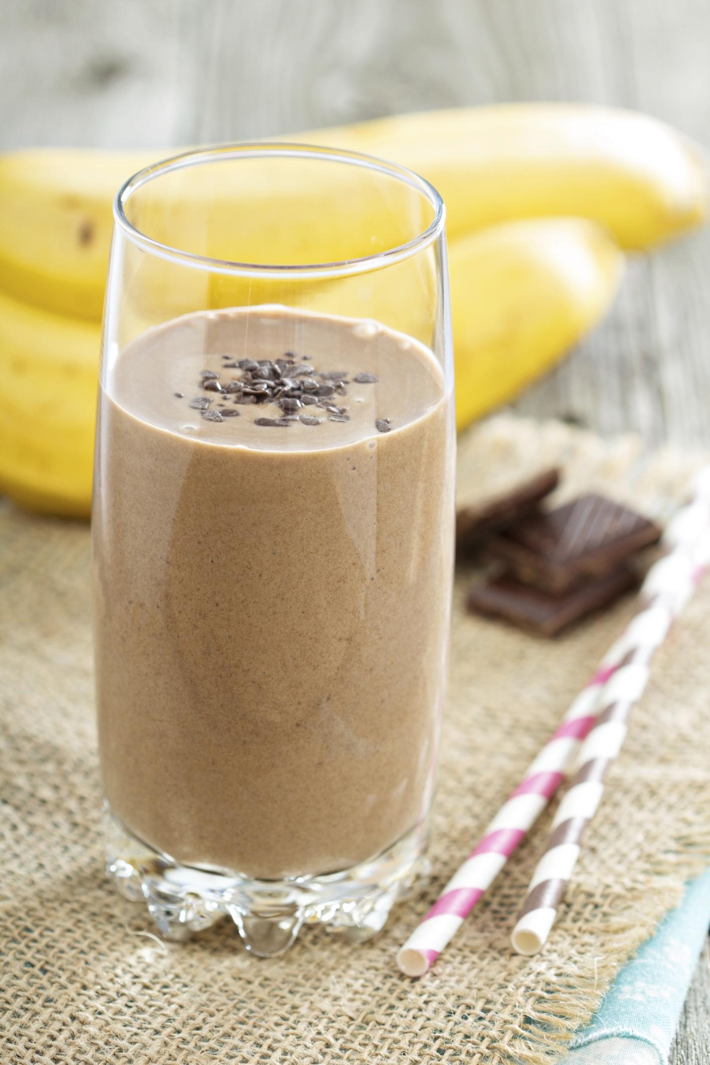 Batido de plátano con chocolate de Camerún