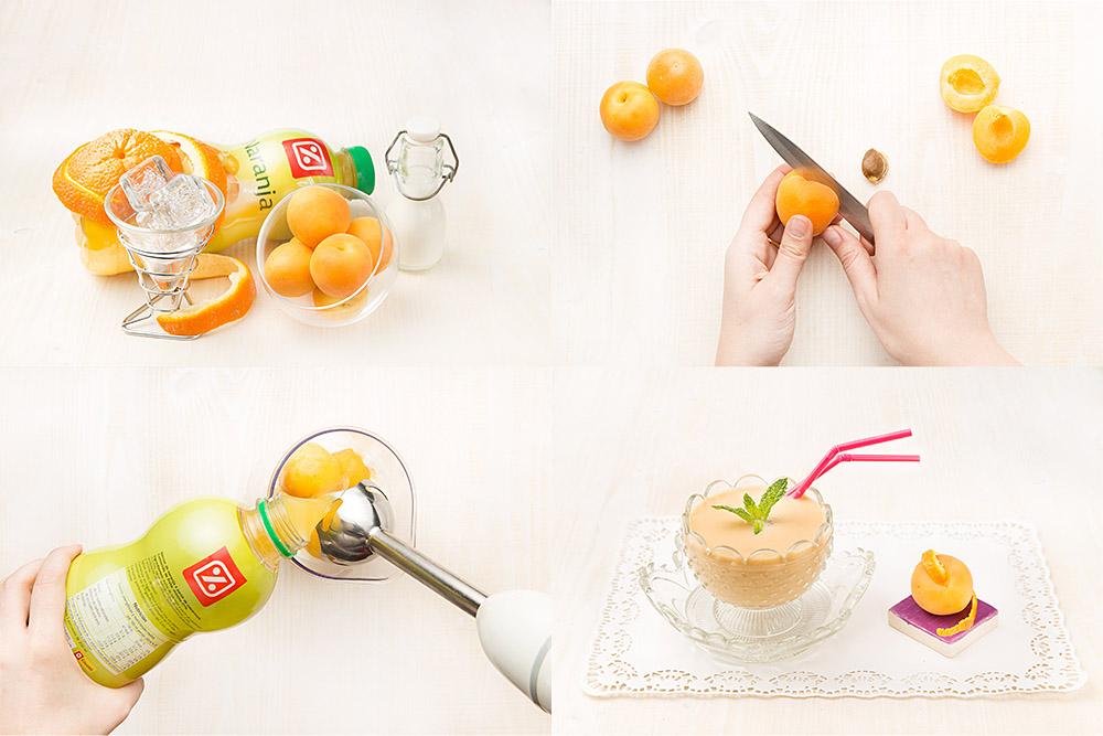 Batido de melocotón y naranja