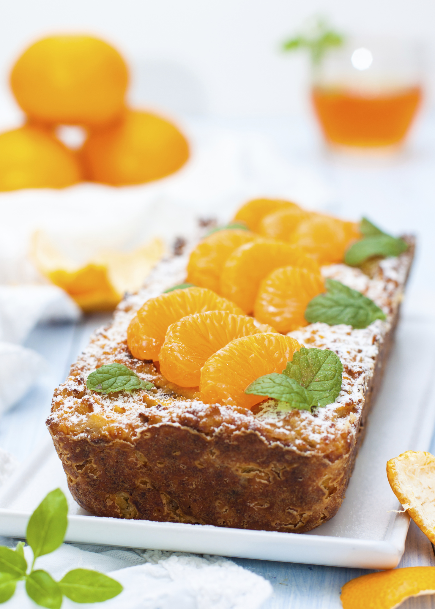 Bizcocho de almendras y mandarinas
