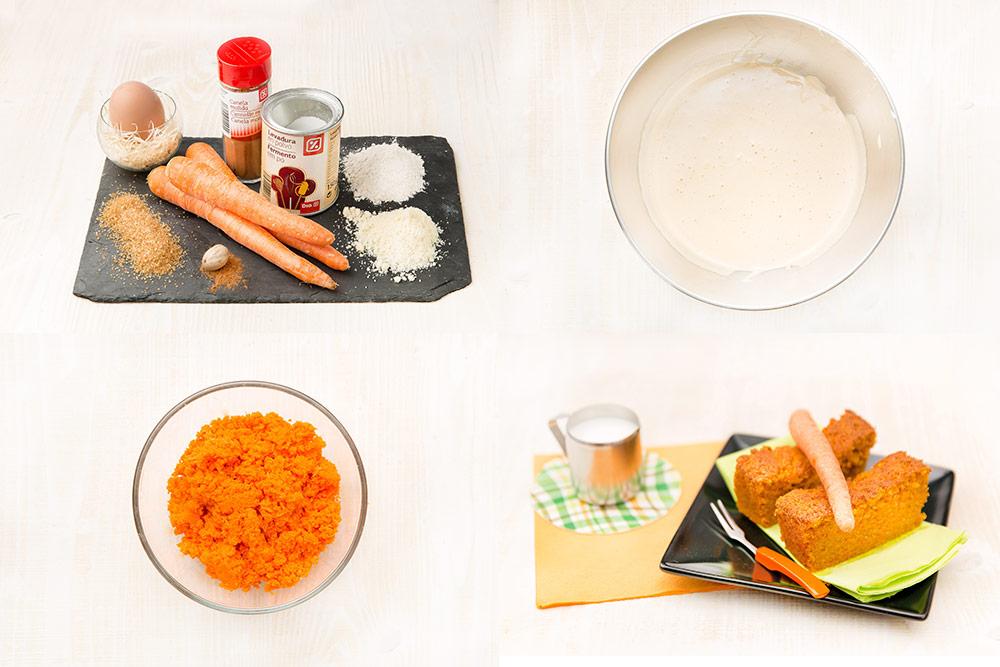 Bizcocho de zanahoria para personas diabéticas