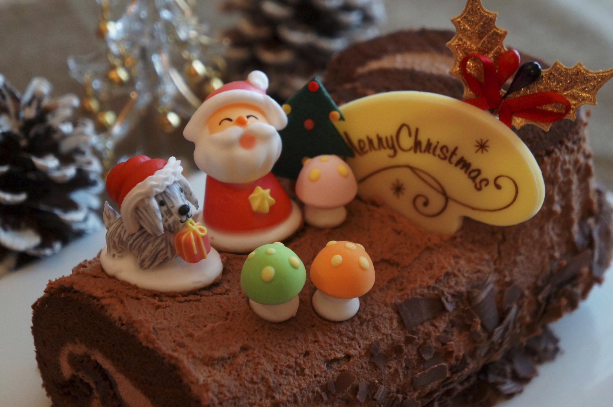 Bizcocho enrollado de Navidad