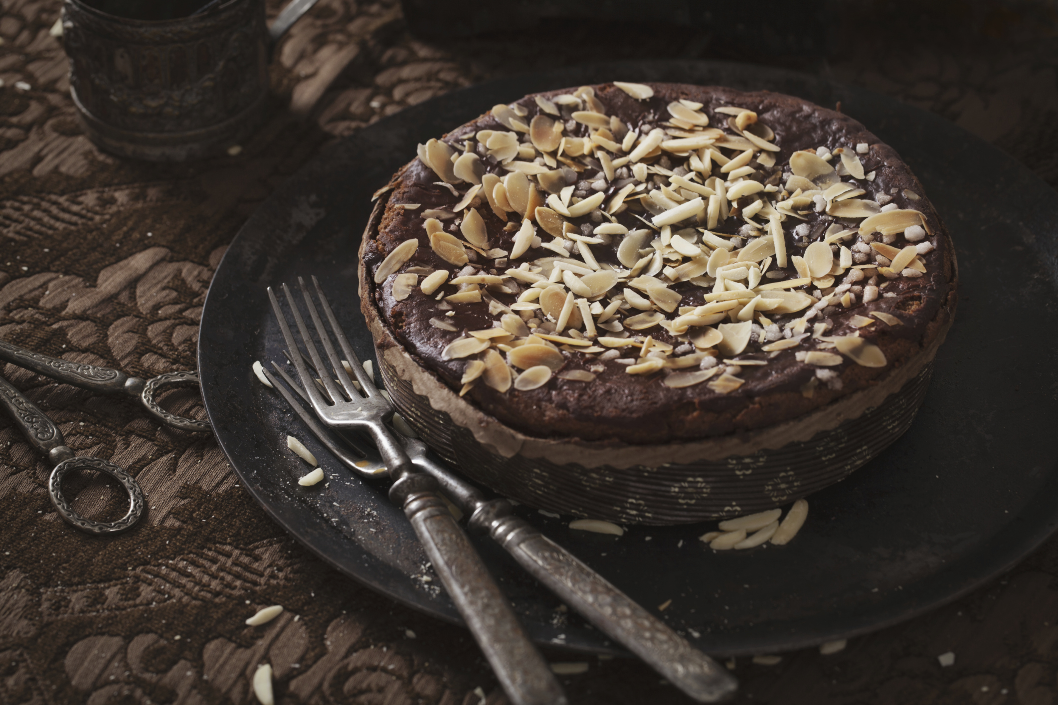 Bizcocho de mousse de chocolate