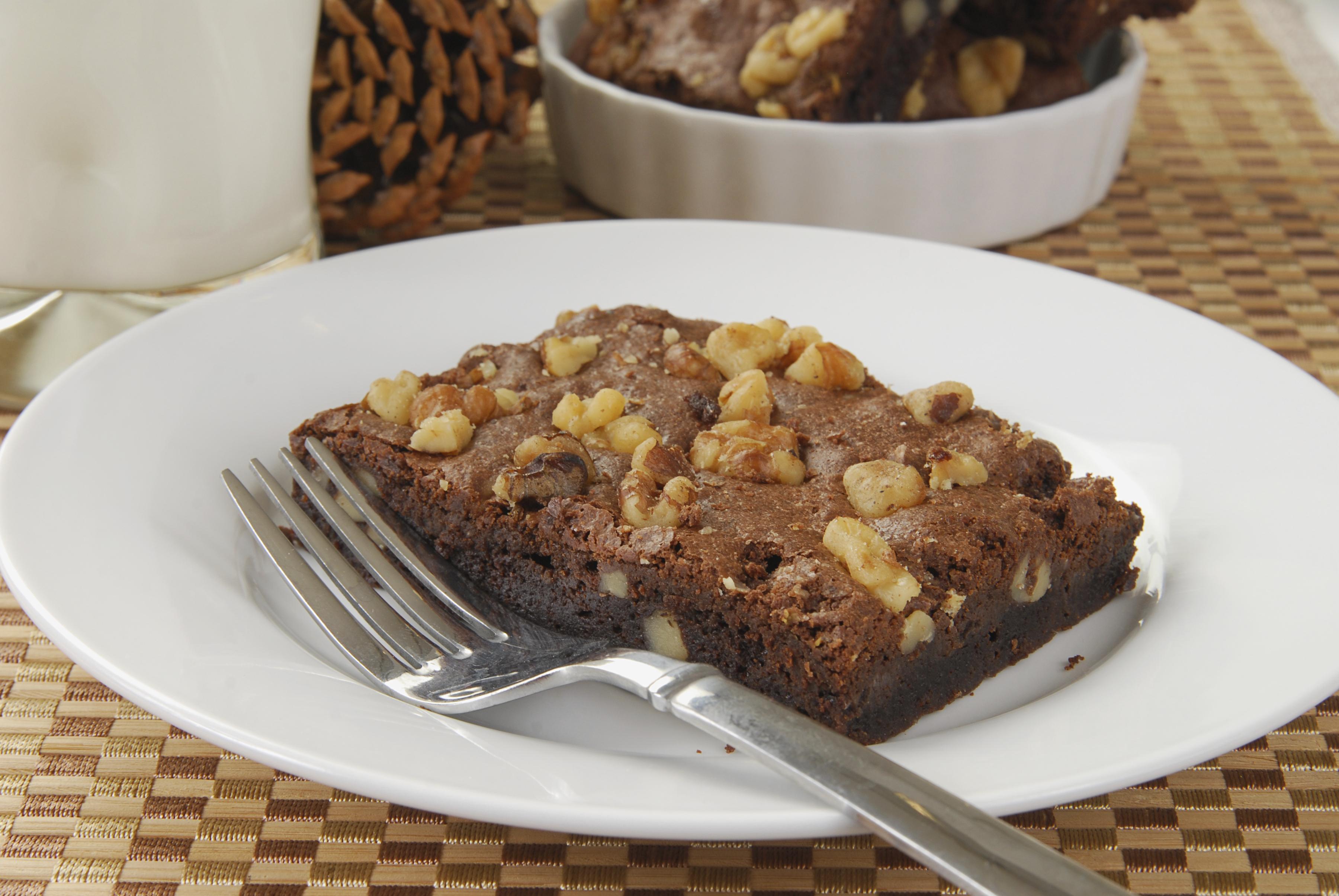Brownie de chocolate con nueces casero