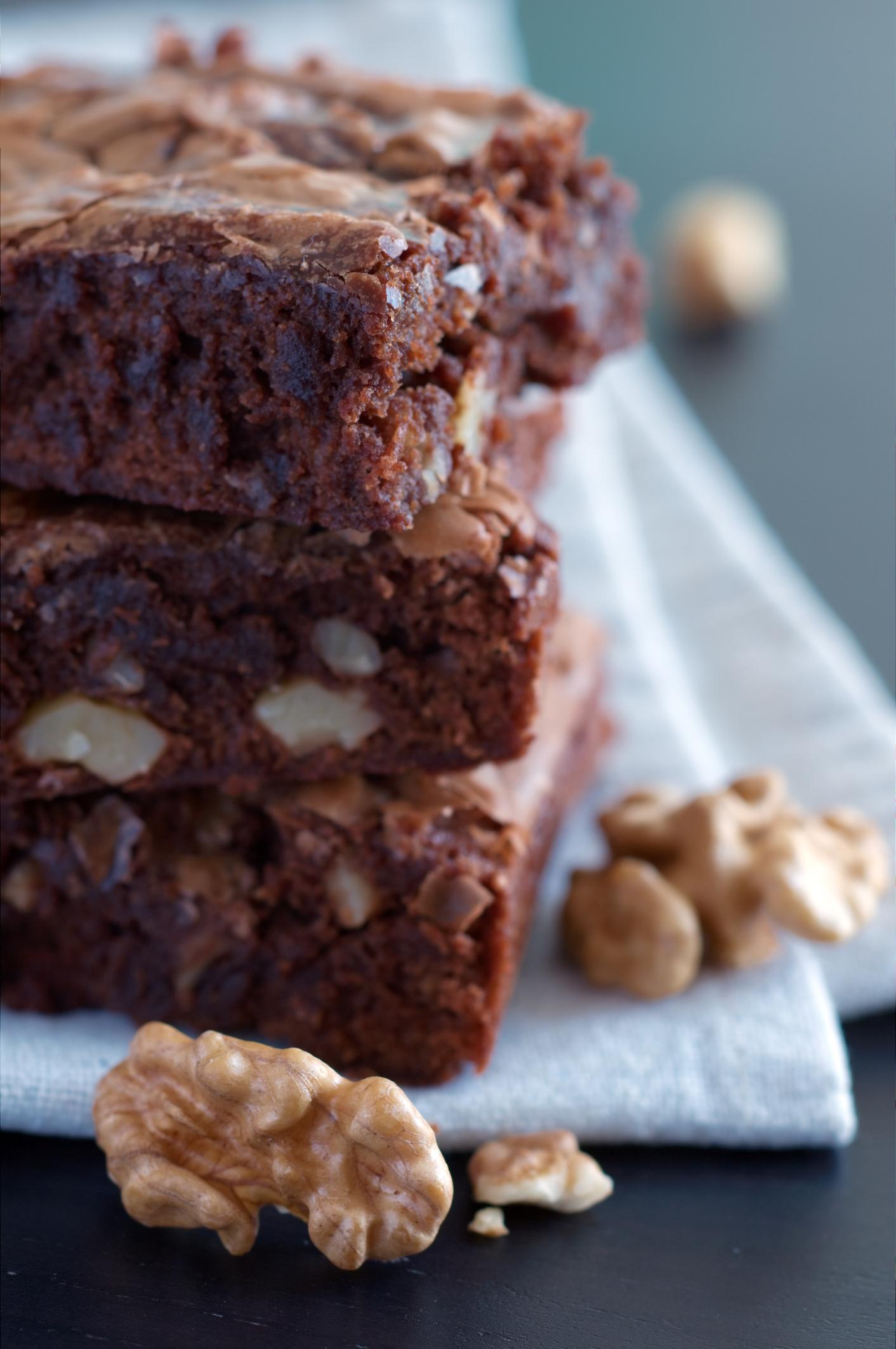 Brownies caseros de chocolate