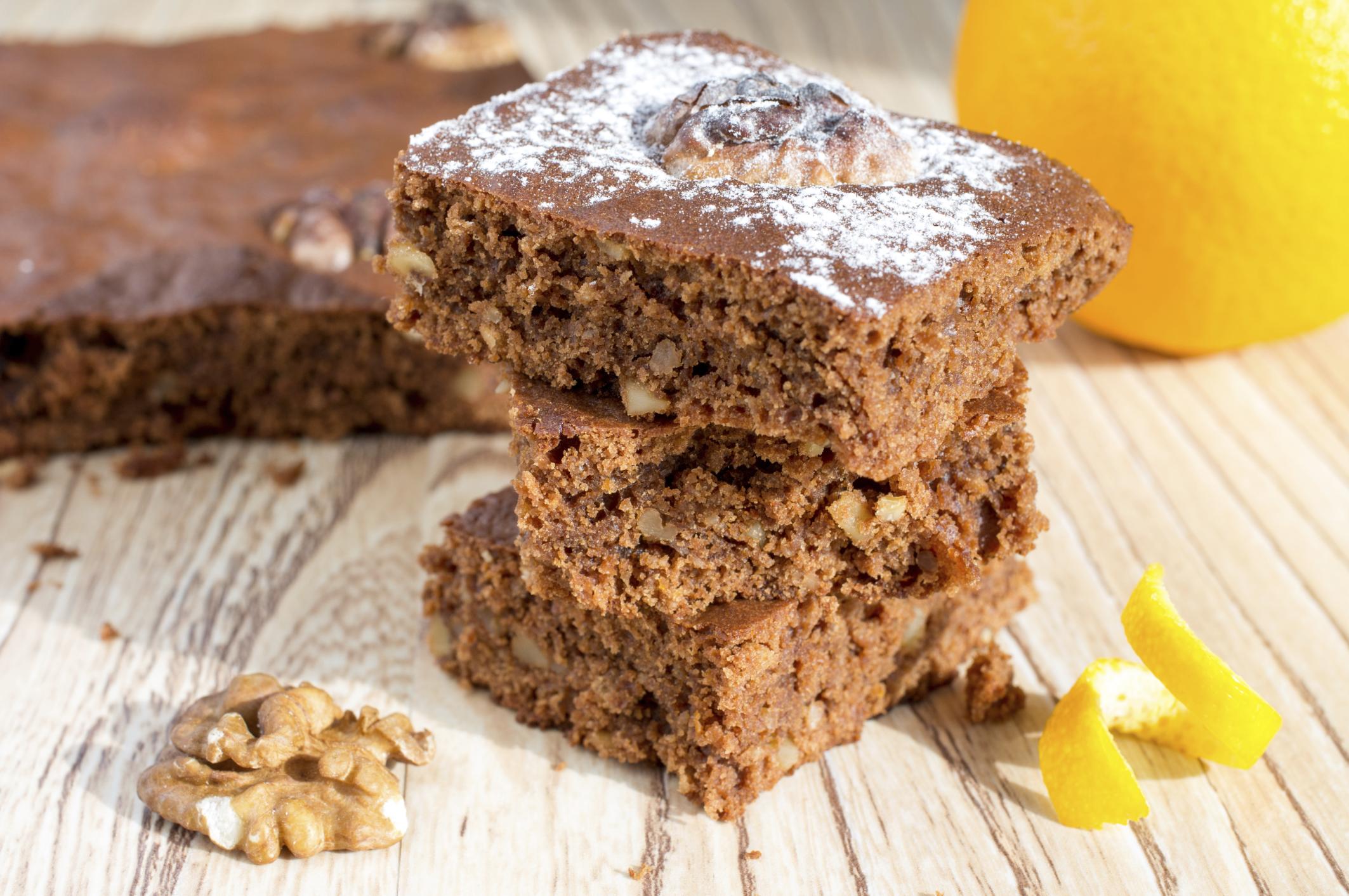Brownies de chocolate y nueces