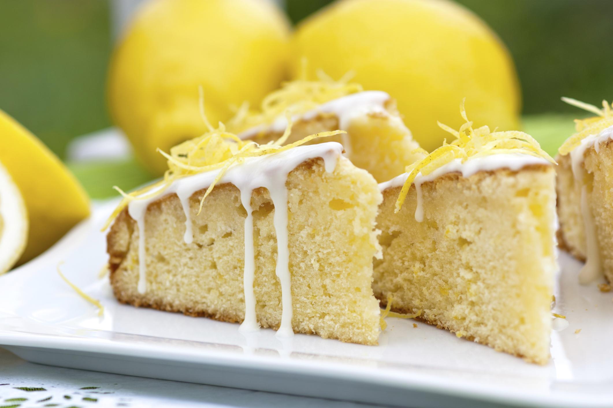 Budín de limón con glase