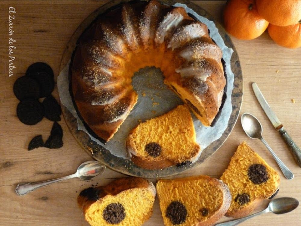 Bundt Cake de Naranja con Cake pops de Oreo