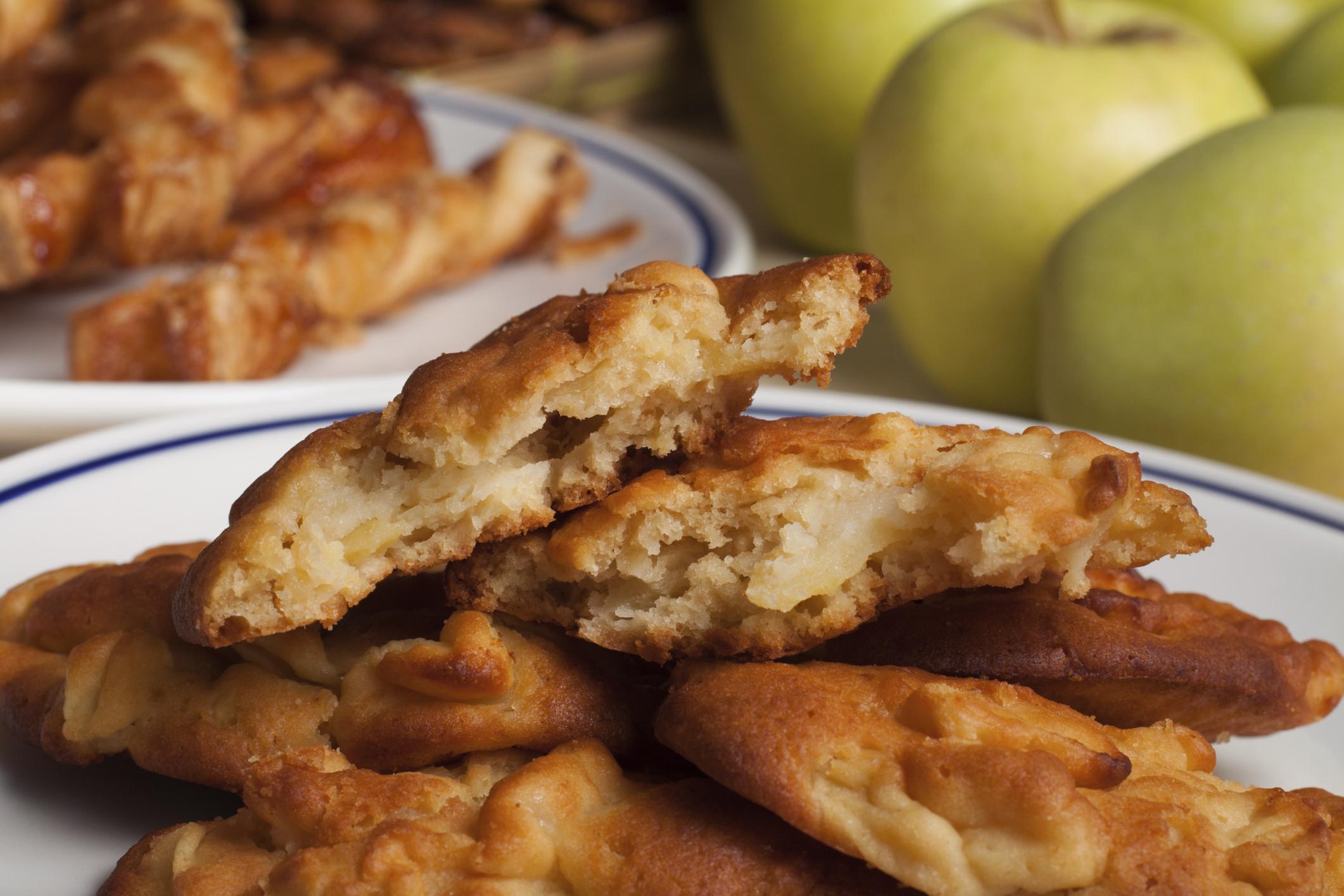 Buñuelos de manzana con cerveza