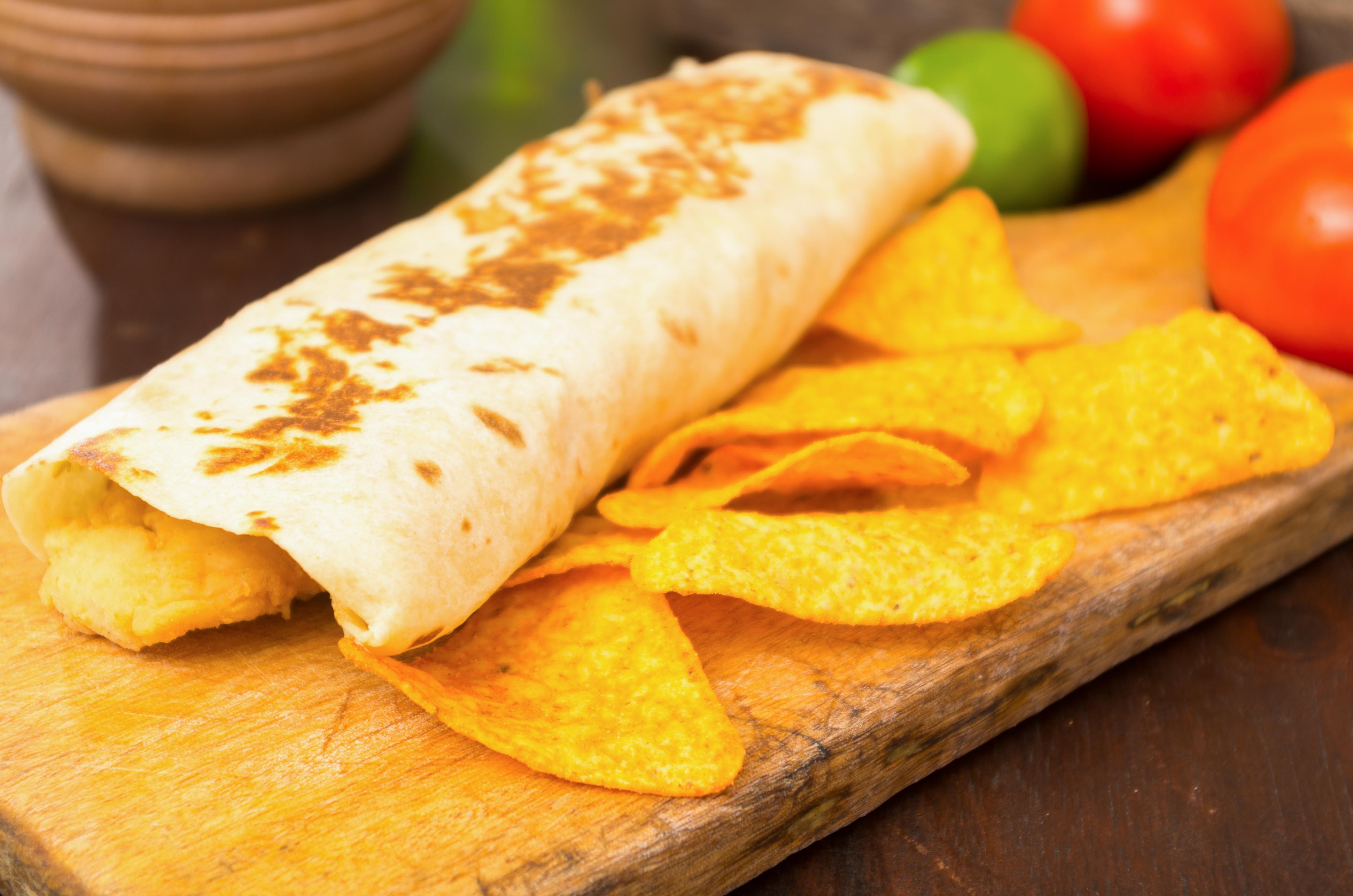 Burritos de huevo con patatas