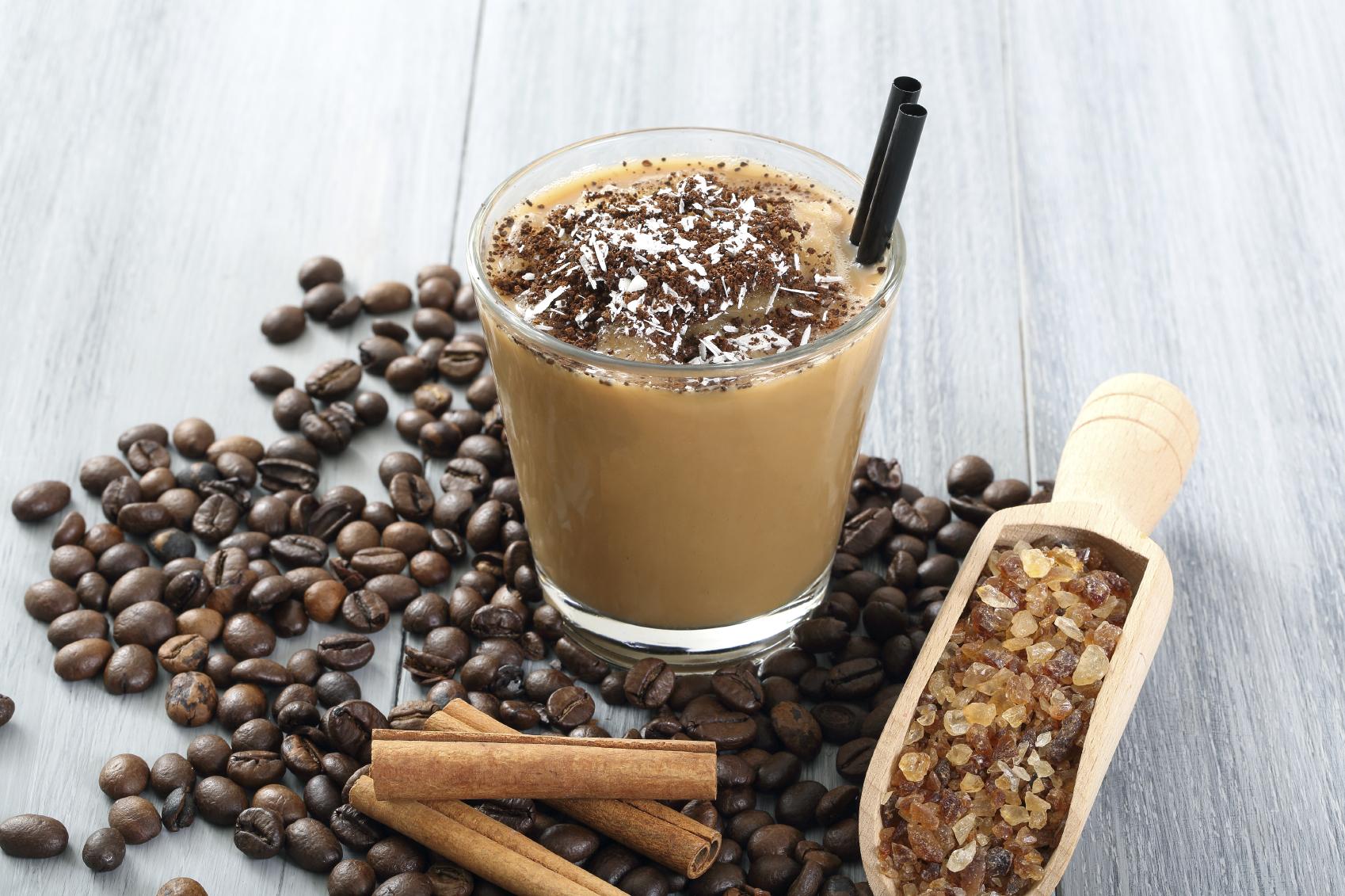 Café con leche granizado