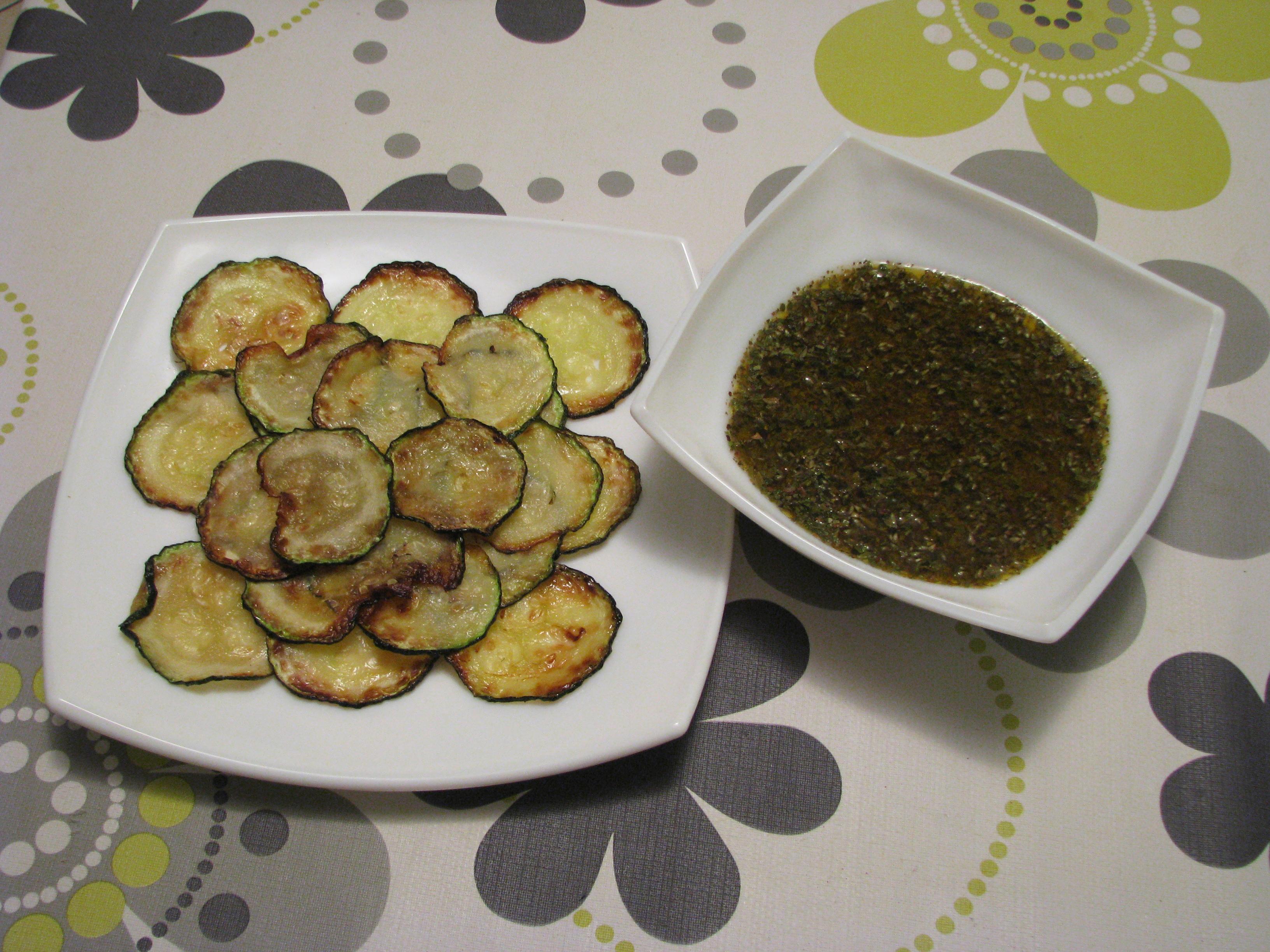 Calabacines a la plancha con salsa chimichurri casera
