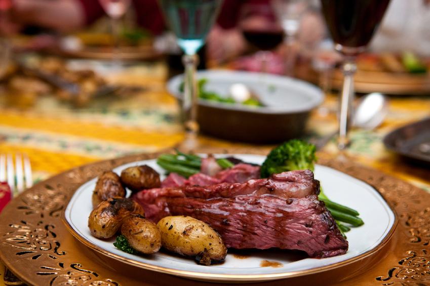 Carne al horno con especias y vino