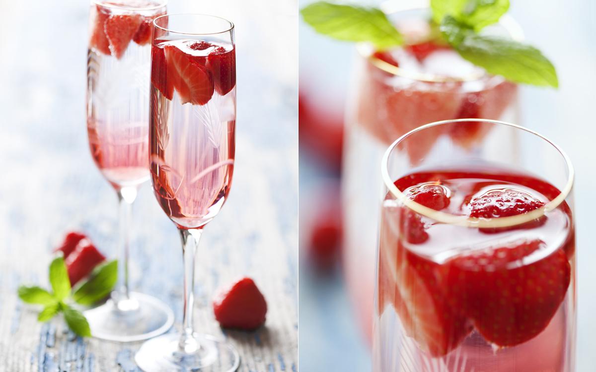 Cava con fresas