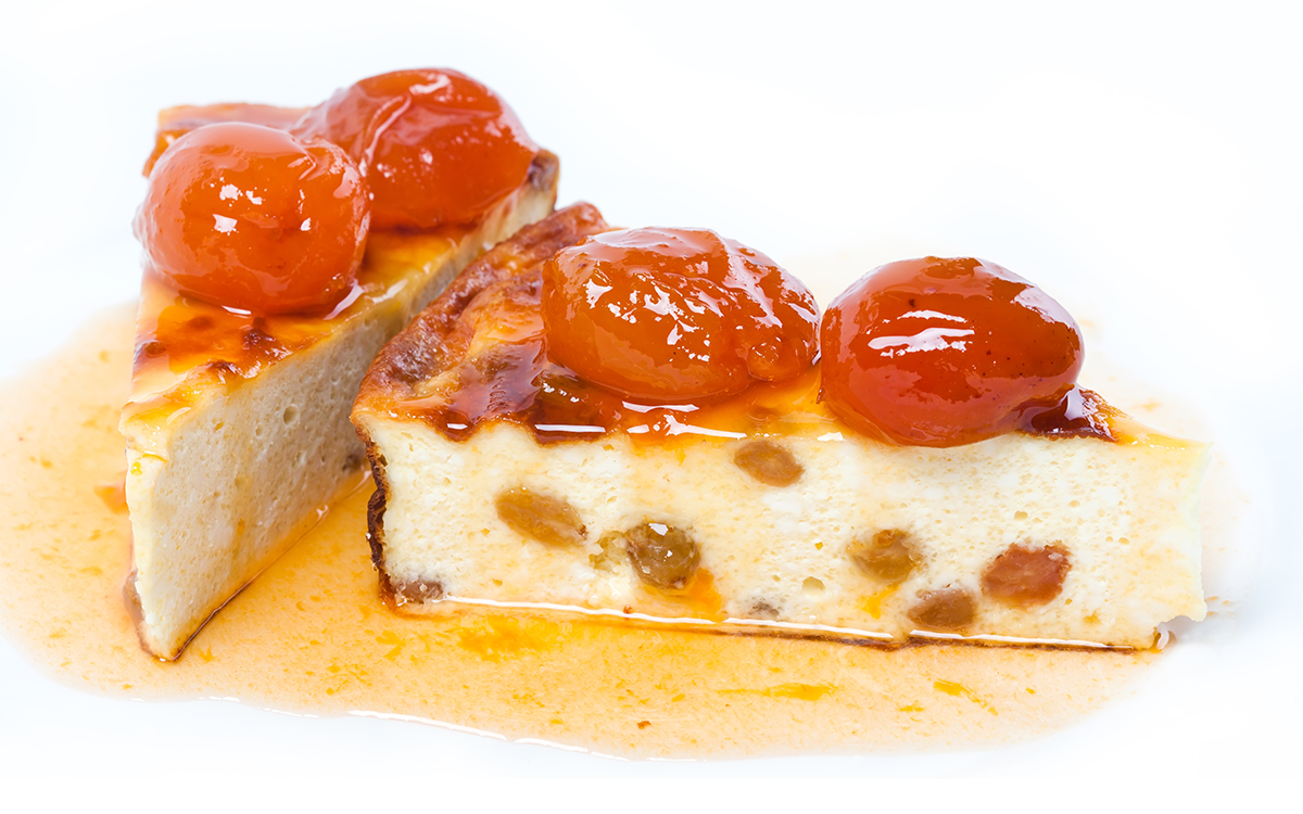 Cheesecake con marrons glacé
