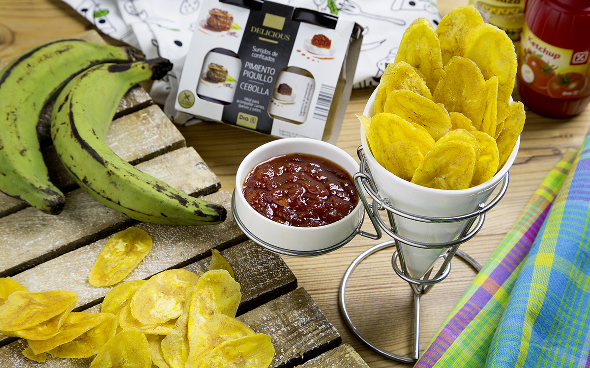 Chips de plátano para Minions