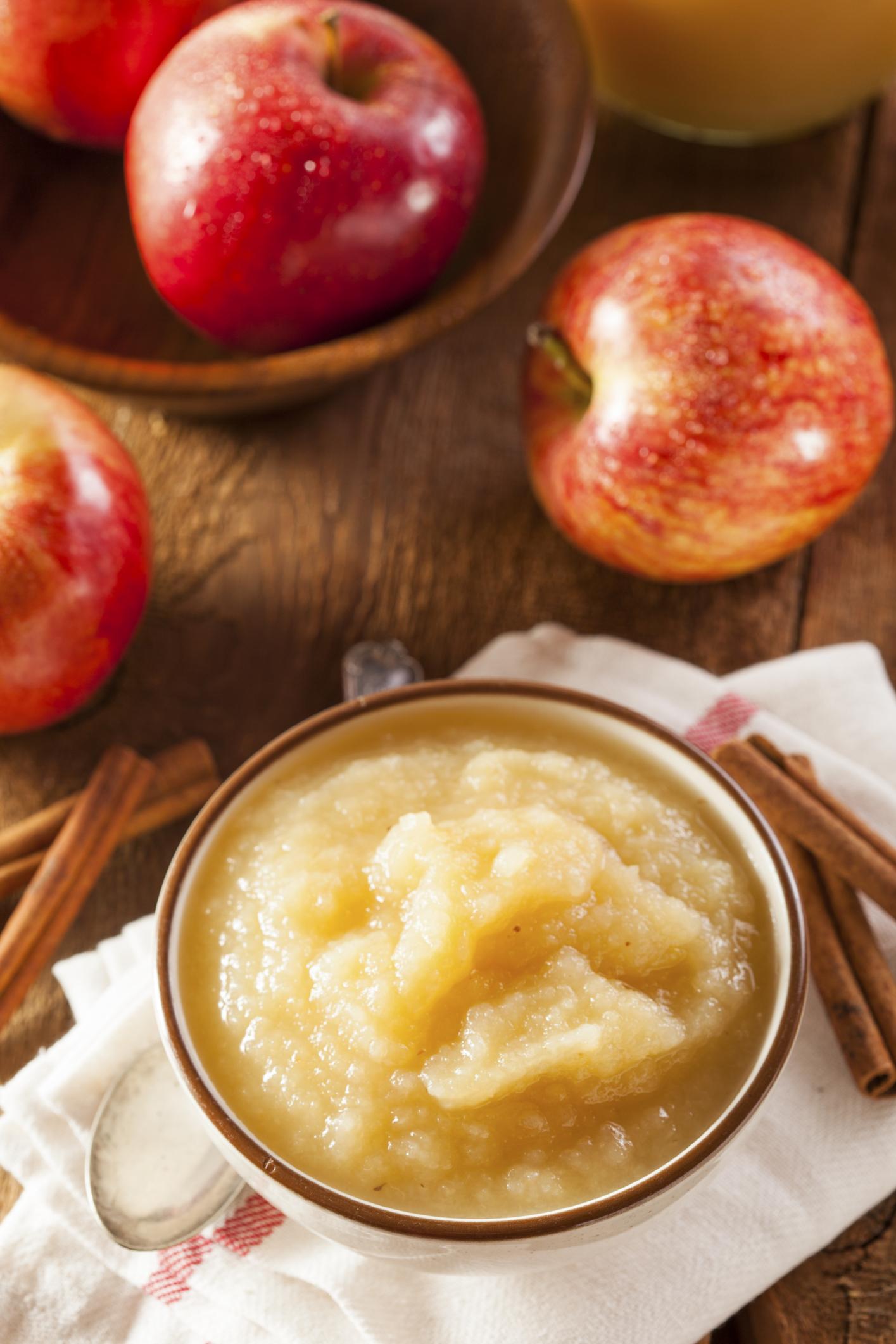 Compota de manzana con canela