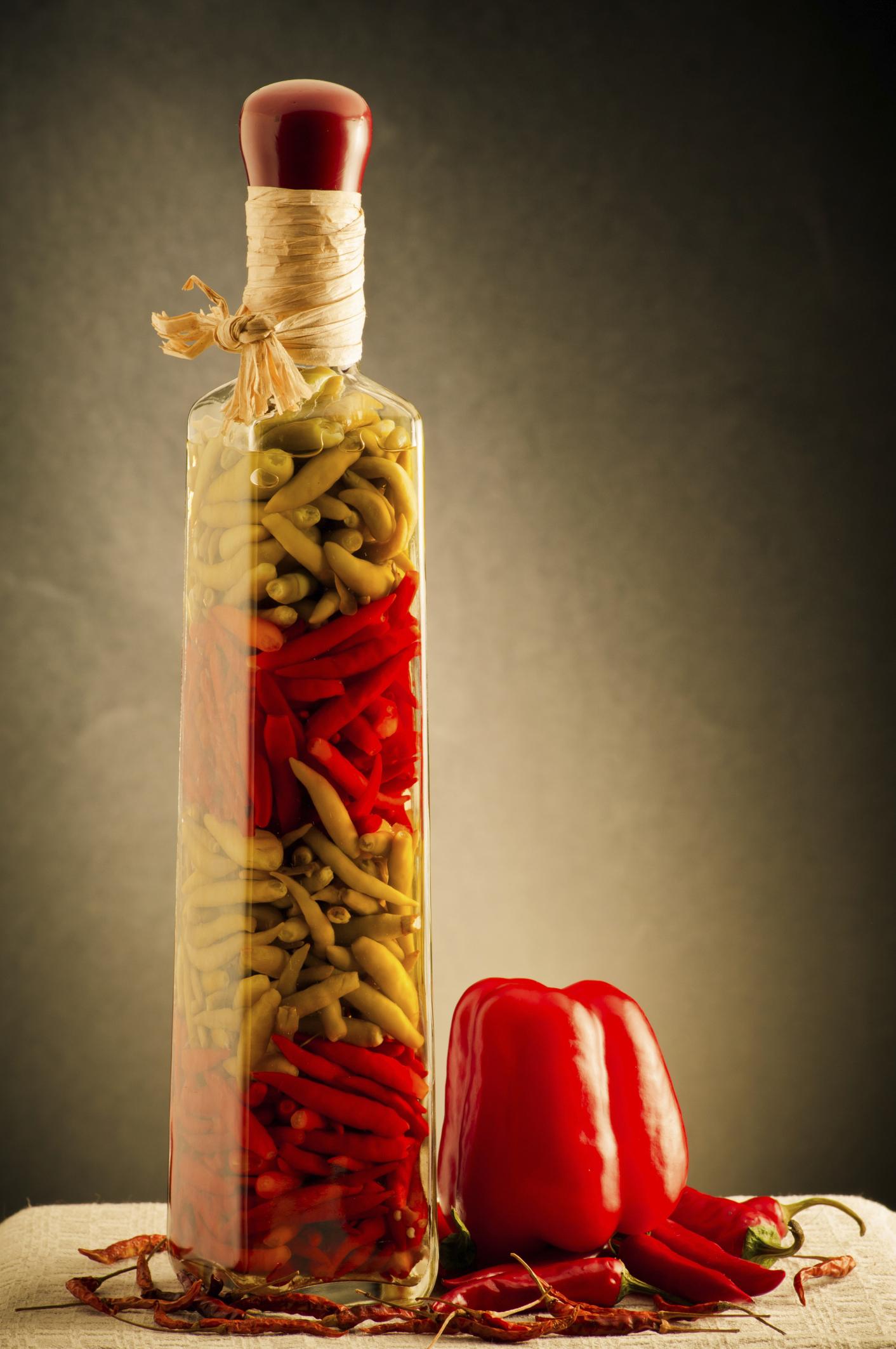 Conserva de chiles frescos
