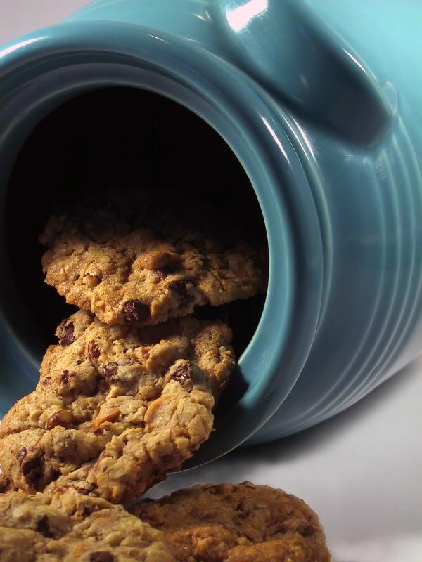 Cookies de avena con lágrimas de chocolate
