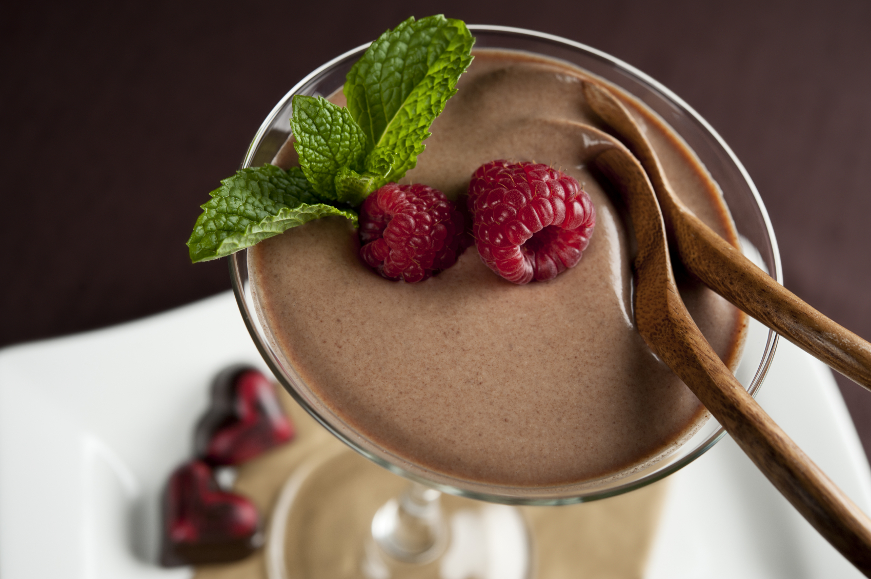 Copa mousse de crema y chocolate