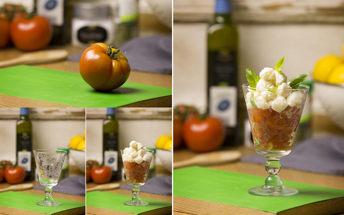Copa de tomate y queso