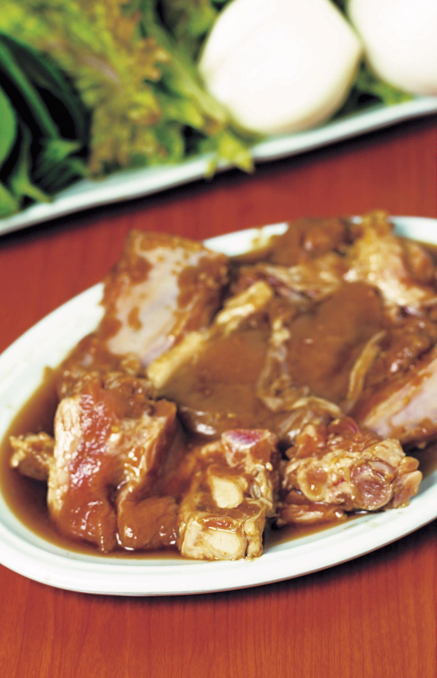 Costillas de cerdo al curry