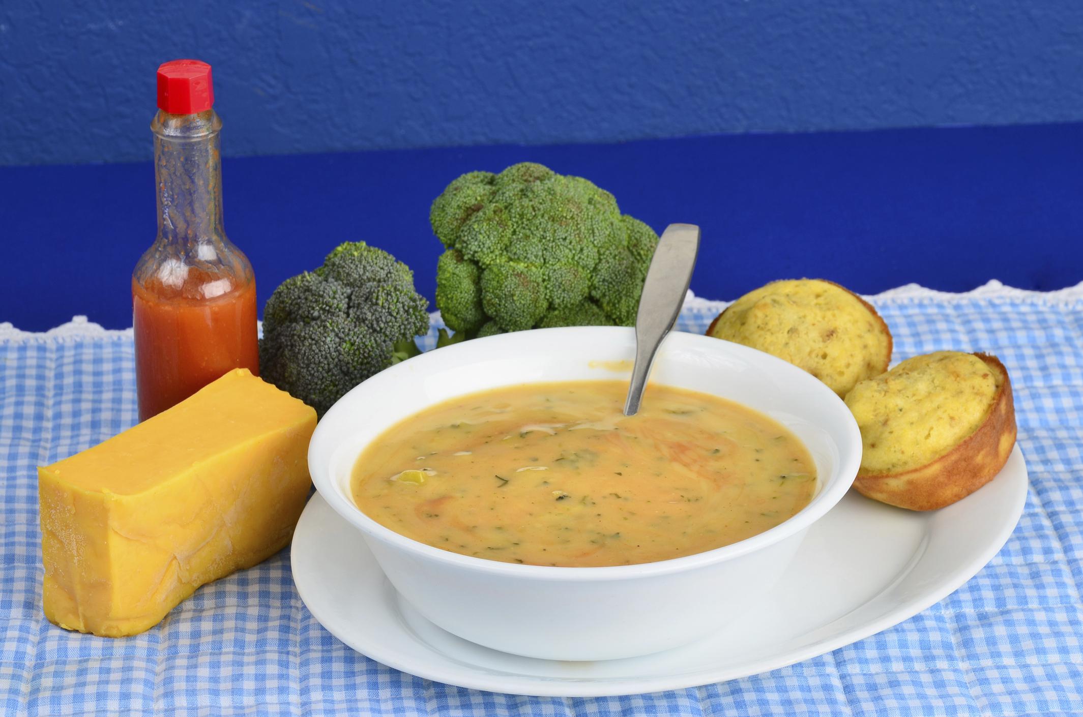 Crema de broccoli y queso cheddar