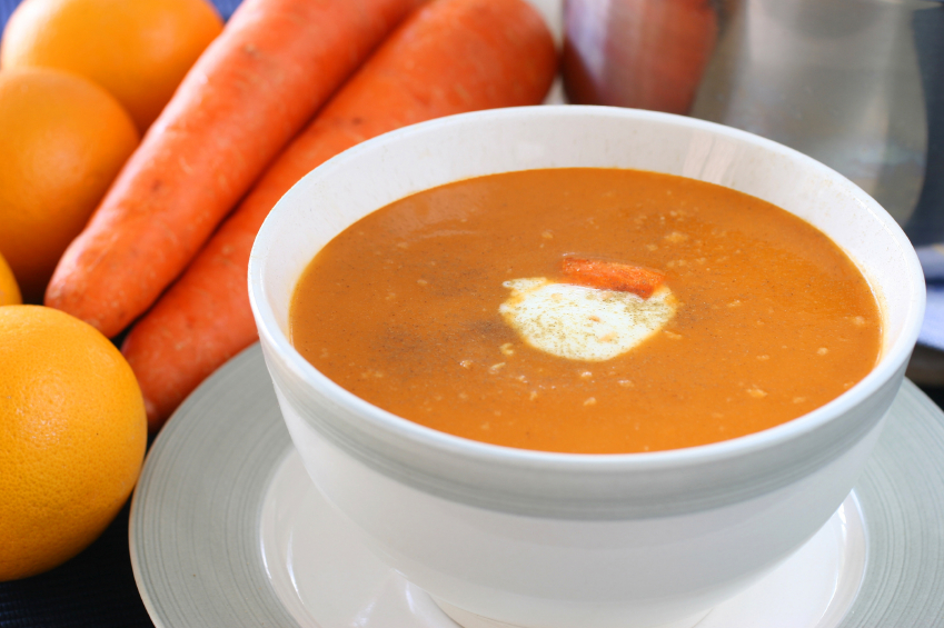 Crema de zanahoria con coco