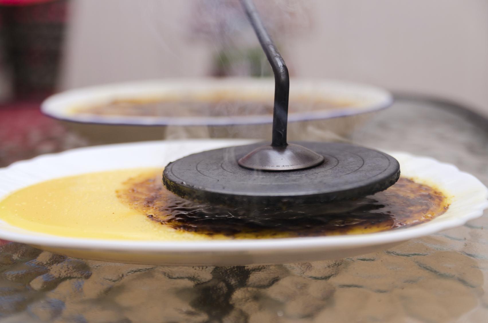 Crema de maicena caramelizada