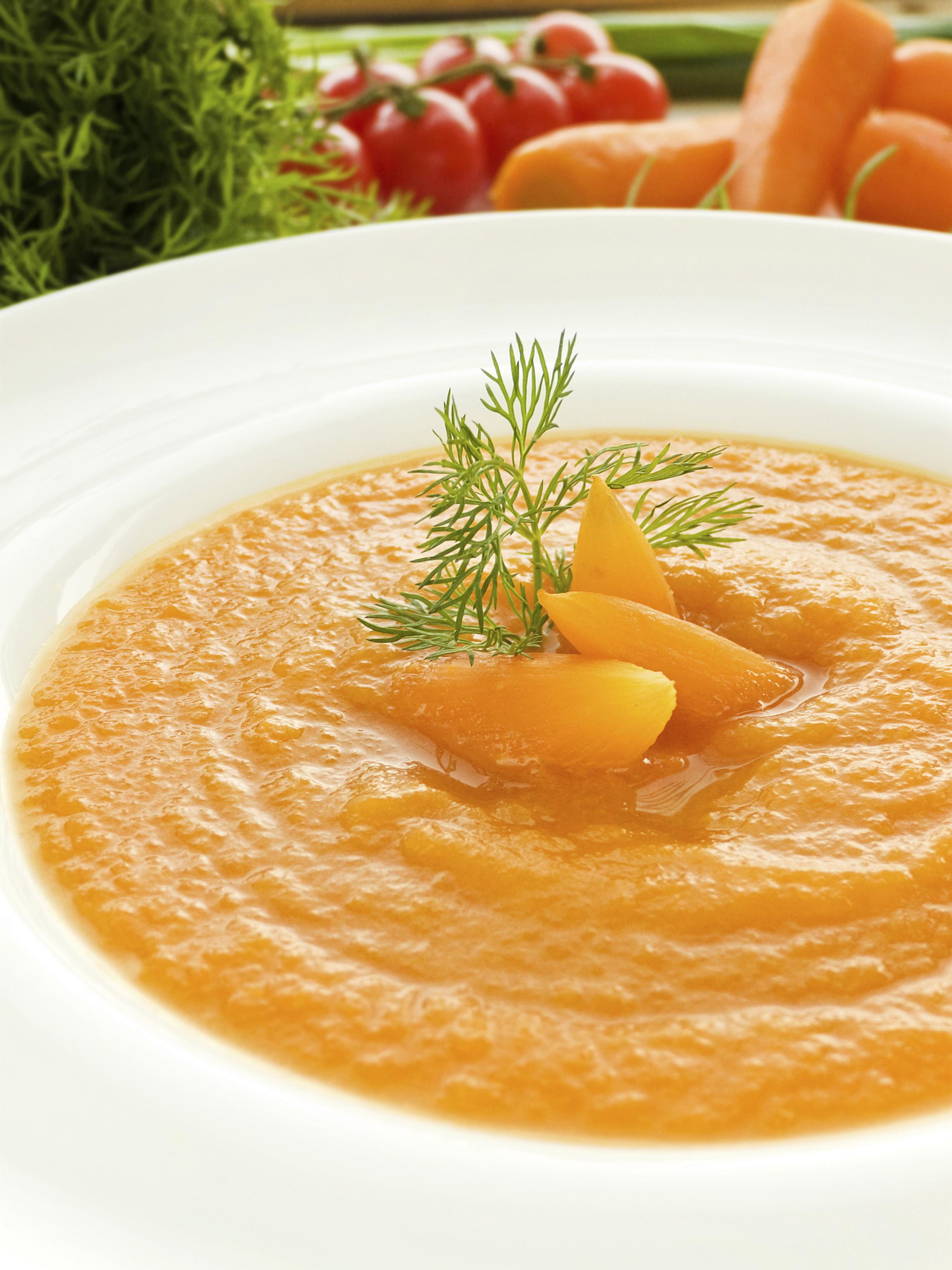 Crema de zanahoria 3 texturas