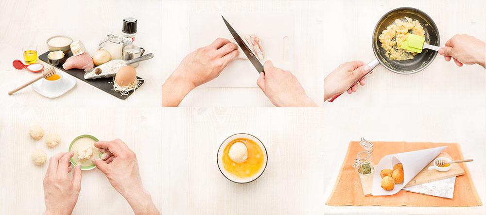 Croquetas de queso y pavo