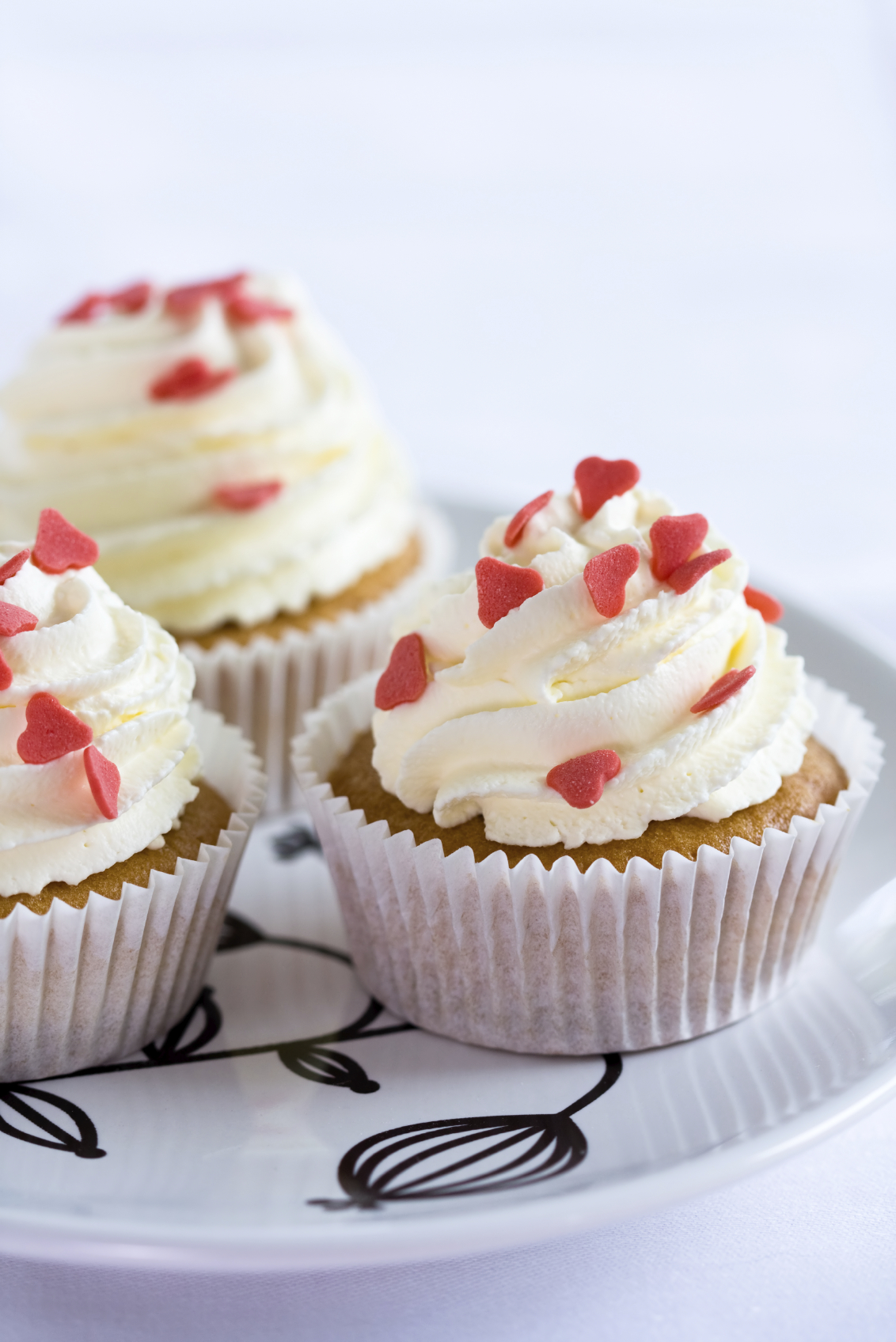 Cupcakes con corazón