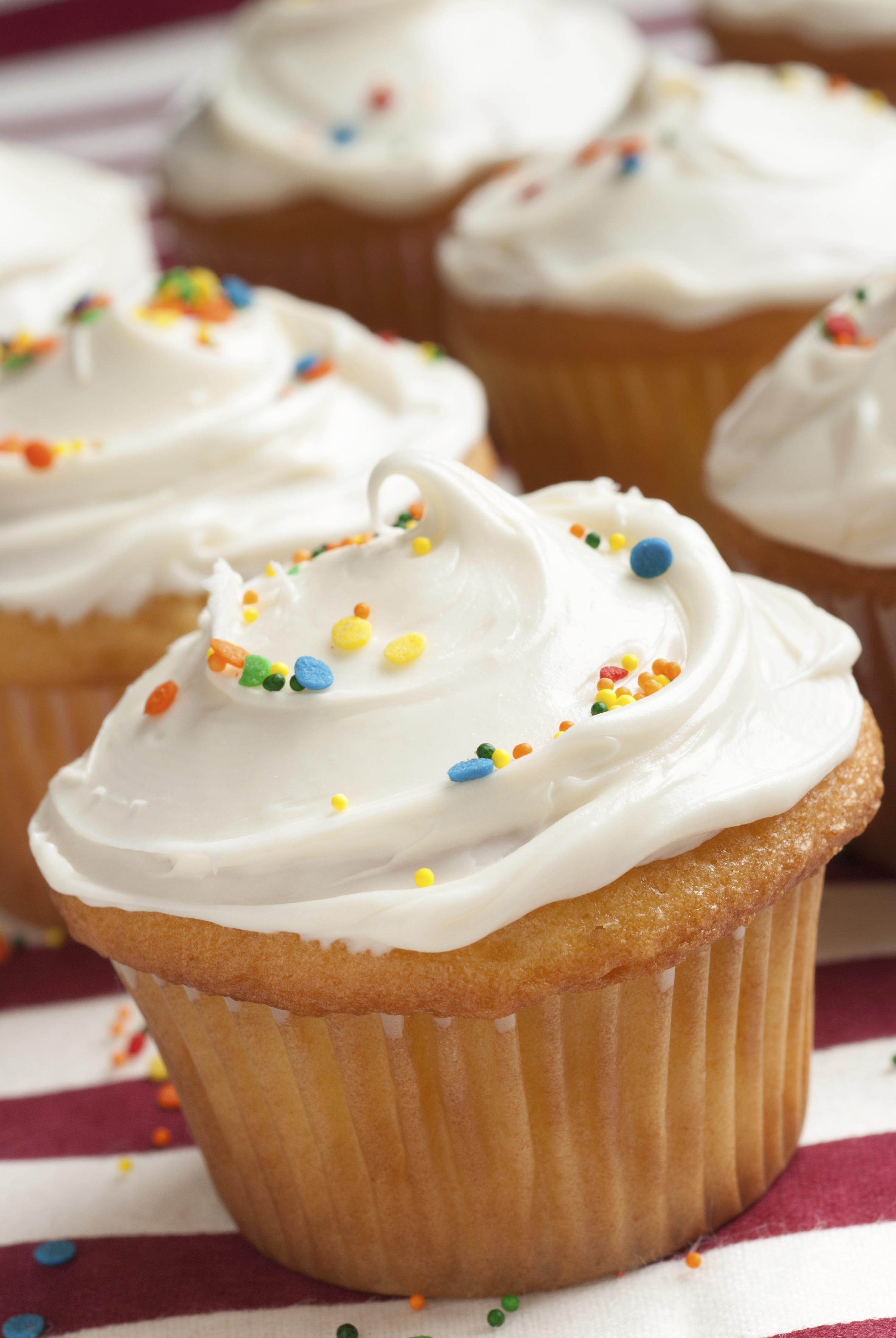 Cupcakes de vainilla y crema