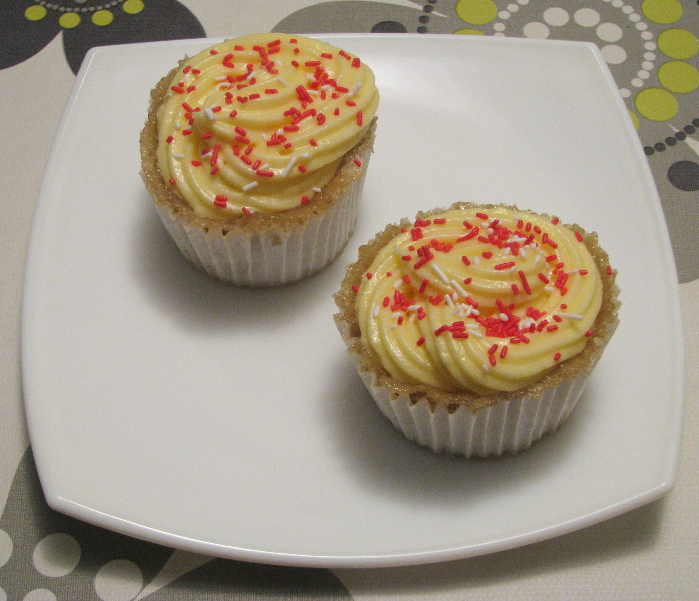 Cupcakes de fresa en microondas