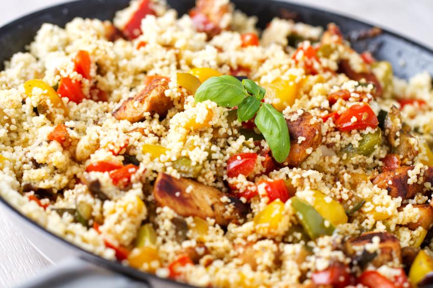 Ensalada de cous-cous con vegetales