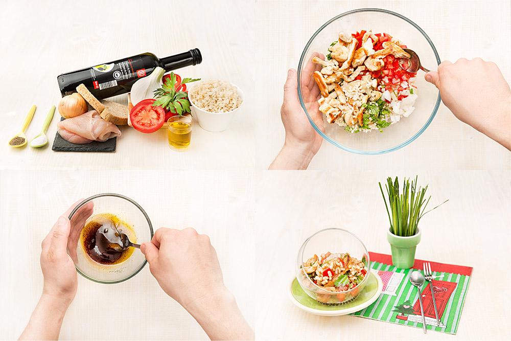 Ensalada con arroz integral