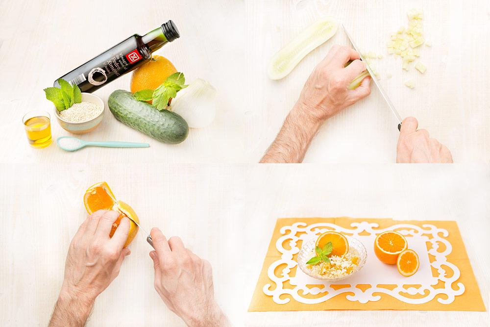 Ensalada de quinoa con naranja