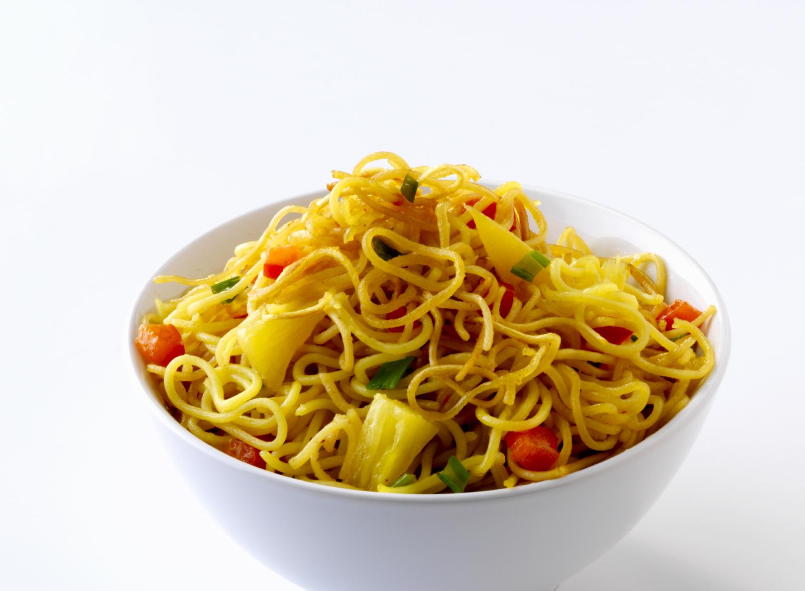 Fideos chinos al curry