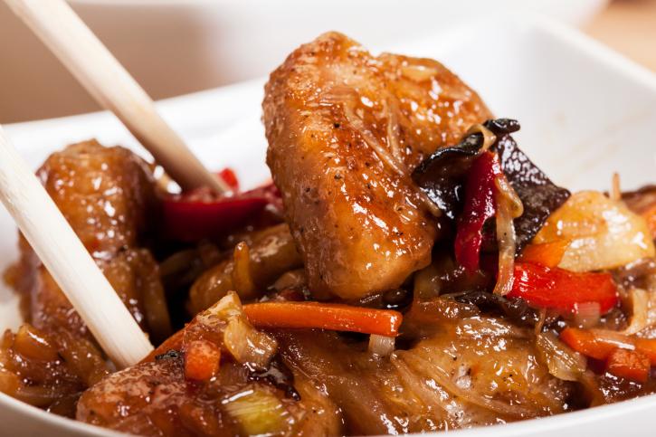 Filete de cerdo estilo oriental