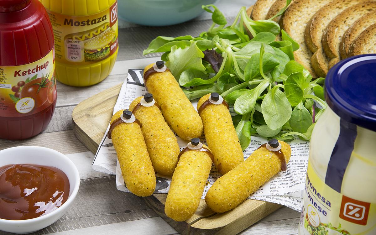 Fingers de queso Minion