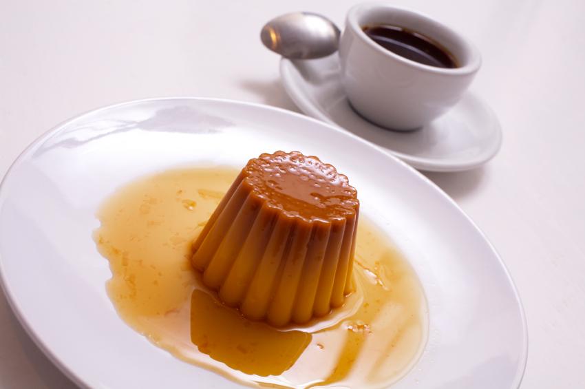 Flan de café con nata
