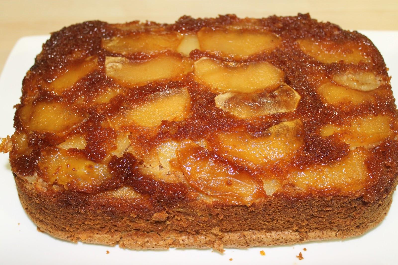 Bizcocho flan de manzana sin gluten