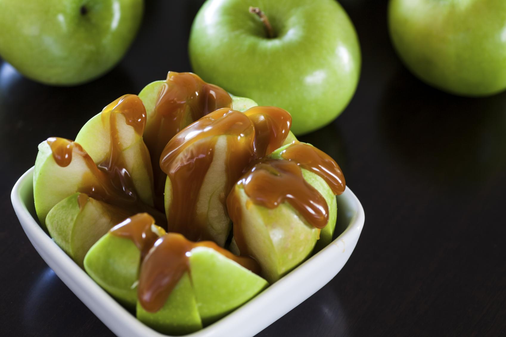 Manzana con tofe