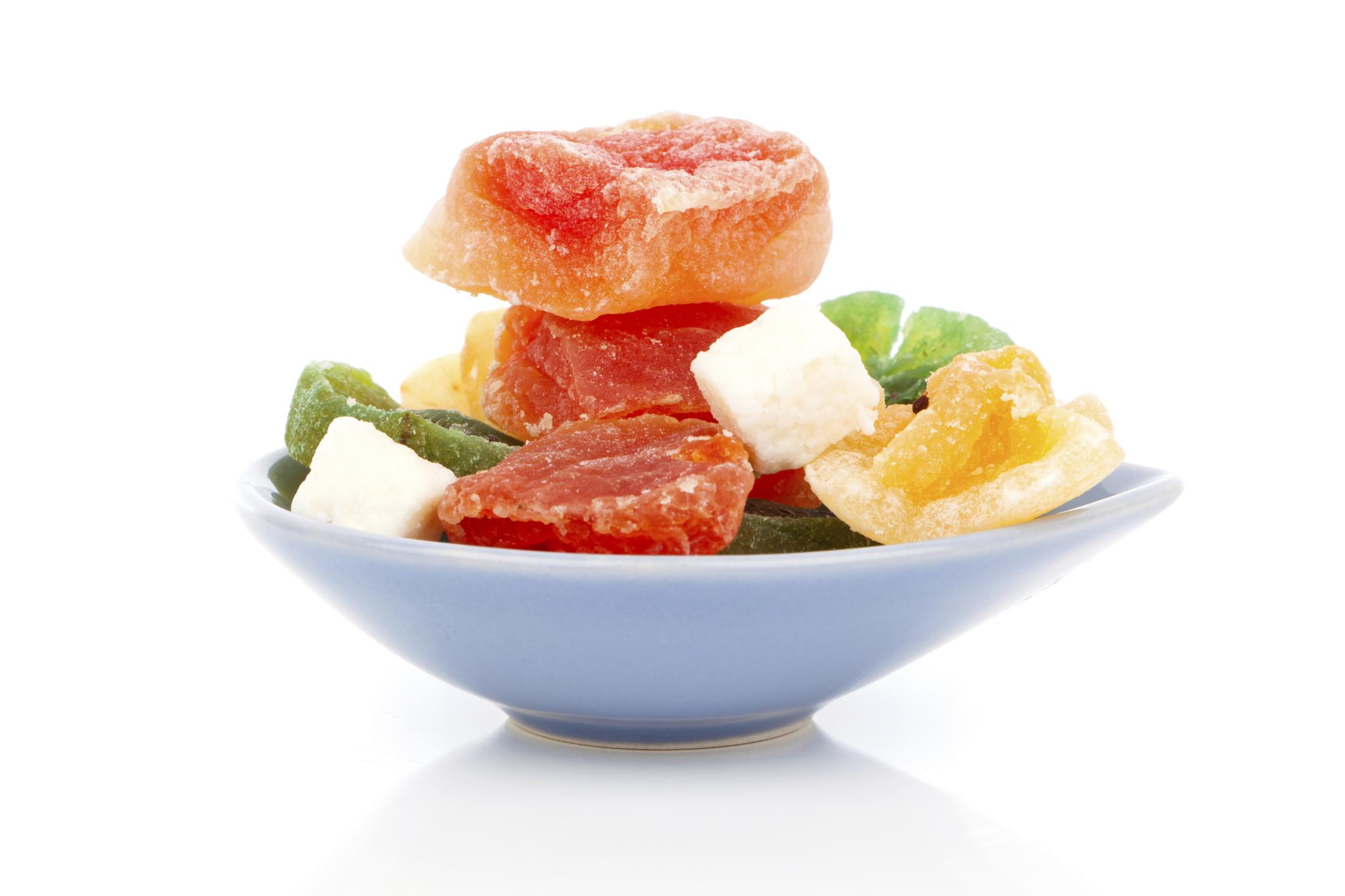 Frutas escarchadas