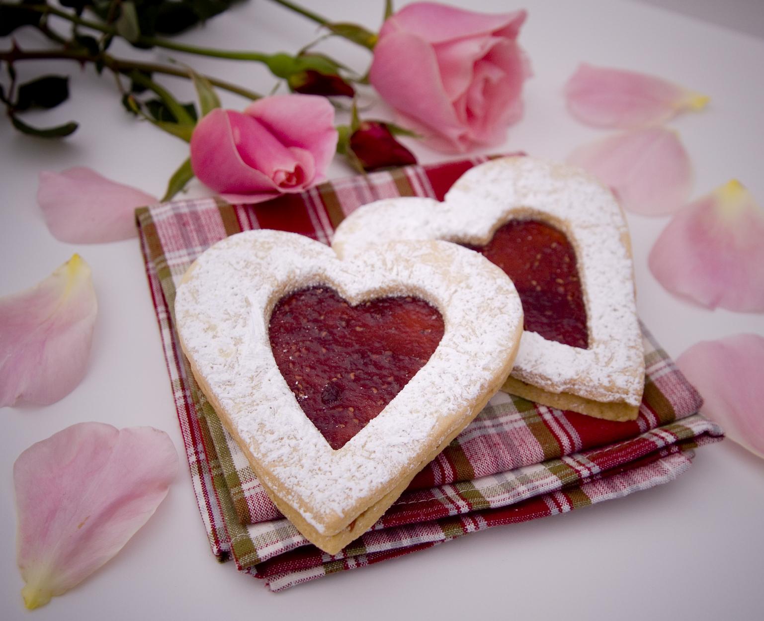 Galletas caseras corazón