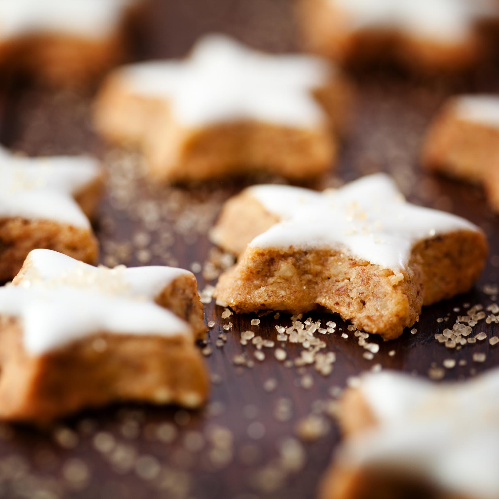 Galletas estrellas con azúcar