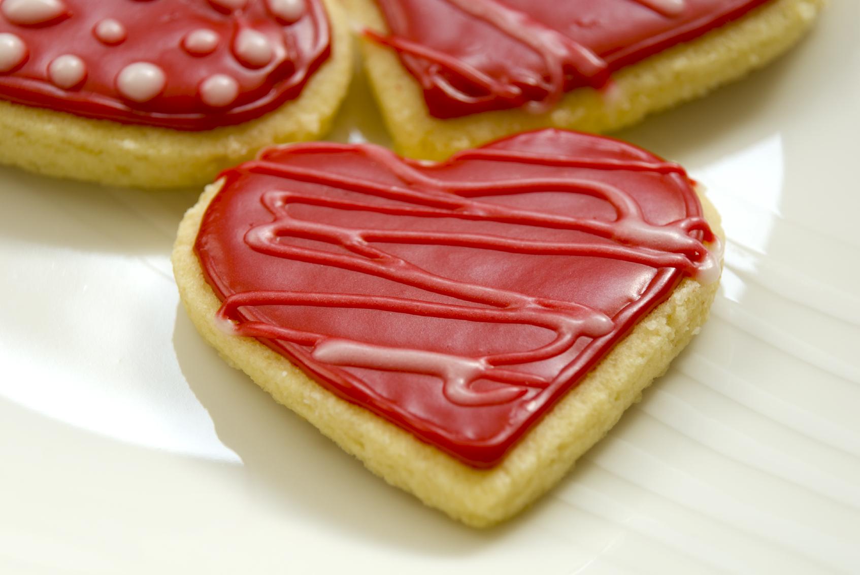 Galletas de San Valentín sin gluten