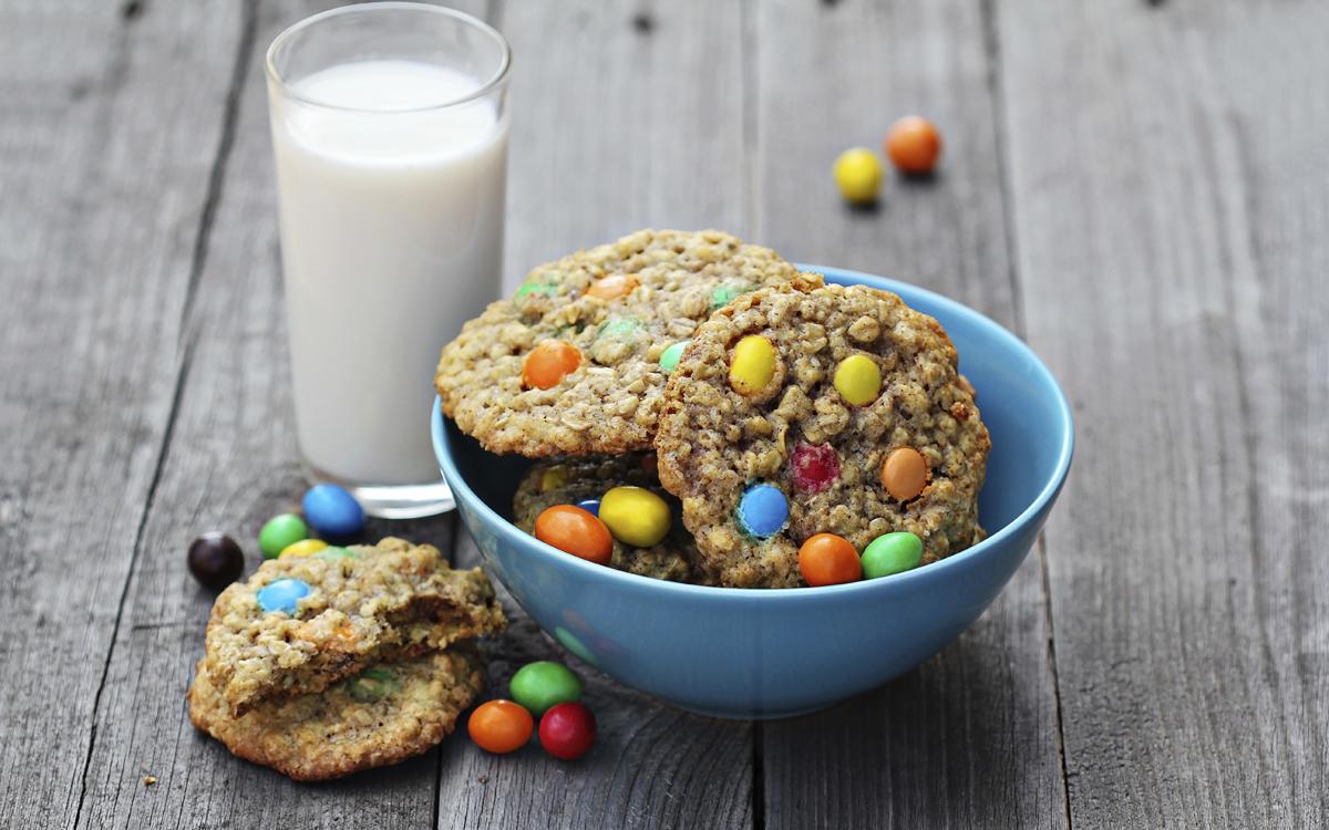 Galletas cookies con caramelos
